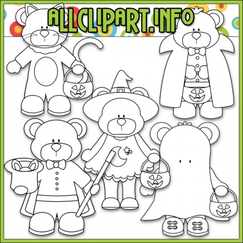 """Lil Tricksters Bears by AllClipART.info - Digi Stamps - """".00"""