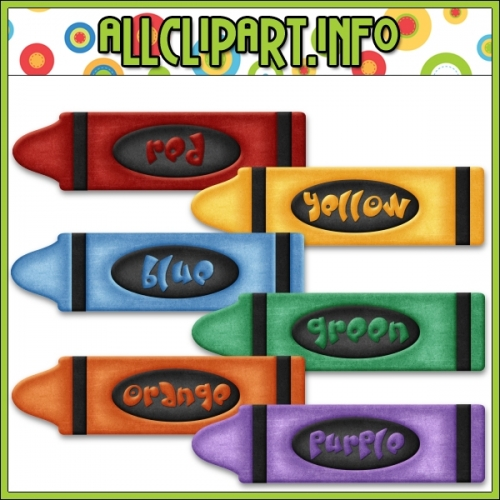 "Love To Learn Colors Crayons Clip Art by AllClipART.info - "".00"