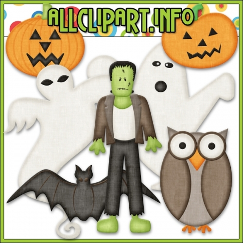 "Halloween Characters Clip Art by AllClipART.info - "".00"