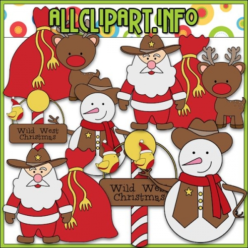 "Wild West Christmas 2 Clip Art by AllClipART.info - "".00"