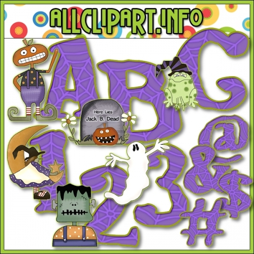 "Cute N Scary Lettering Delights Clip Art by Cheryl Seslar - alt=""Cute N Scary Lettering Delights Clip Art by Cheryl Seslar - $1.00"" .00"