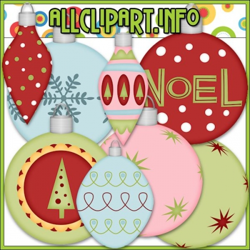 "Christmas Baubles 1 Clip Art by AllClipART.info - "".00"