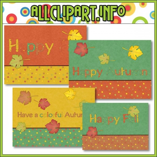 "Happy Fall Printable Paper Craft Card Fronts - "".00"