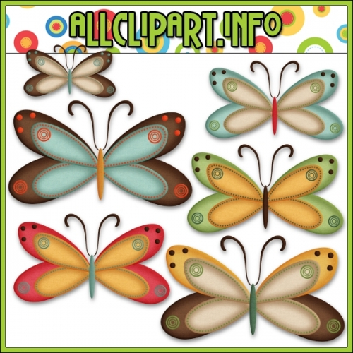 "Fall Butterflies (Multi) Clip Art by AllClipART.info - "".00"