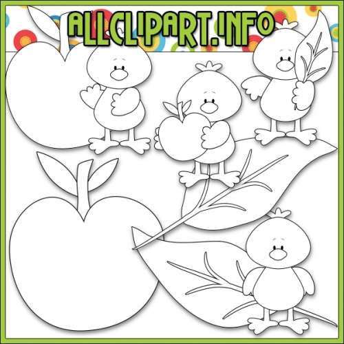 """Fall Colors Crows (Red) by AllClipART.info - Digi Stamps - """".00"""