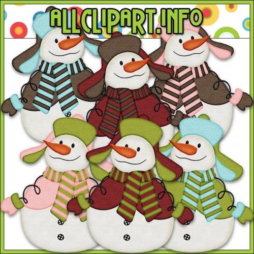 "Snowman Delights Clip Art by AllClipART.info - "".00"