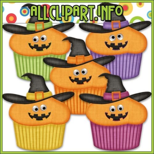 "Googly Eyes Halloween Cupcakes (Orange) by AllClipART.info - "".00"