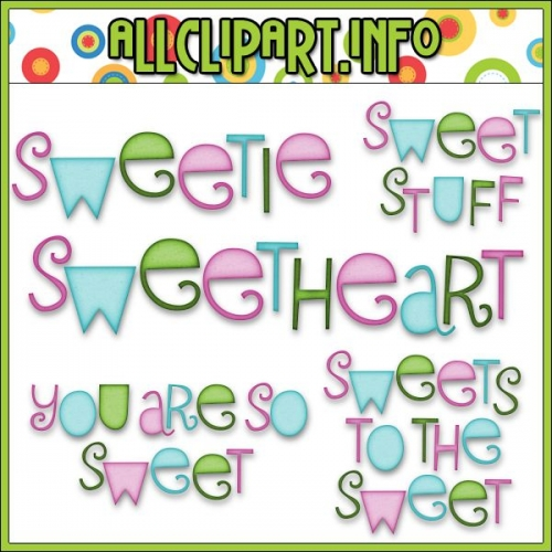 "Sweet Stuff - Digital Scrapbooking > Word Art - alt=""Sweet Stuff - Digital Scrapbooking > Word Art - $1.00"" .00"