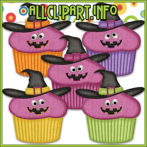 "Googly Eyes Halloween Cupcakes (Pink) by AllClipART.info - "".00"