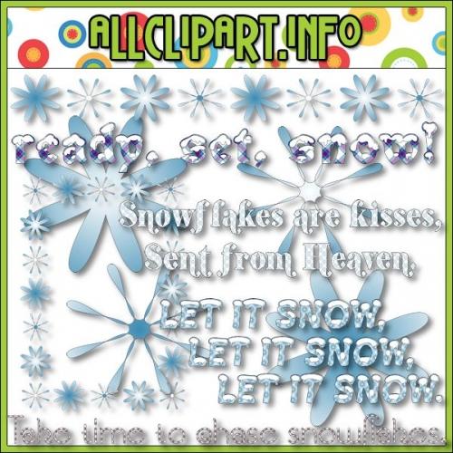 """Snowflakes Clip Art by AllClipART.info - alt=""""Snowflakes Clip Art by AllClipART.info - $1.00"""" .00"""