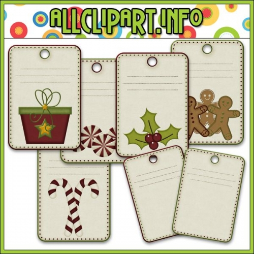 "Christmas Tea Mouse 1 Digital Scrap / Card Making Tags - "".00"