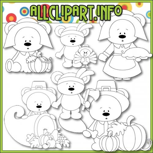 "Give Thanks Bears by AllClipART.info - Digi Stamps - alt=""Give Thanks Bears by AllClipART.info - Digi Stamps - $1.00"" .00"