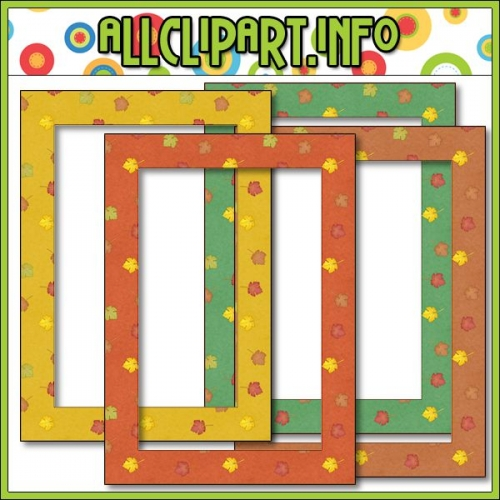 "Happy Fall Digital Scrapbooking / Card Making Frames - "".00"
