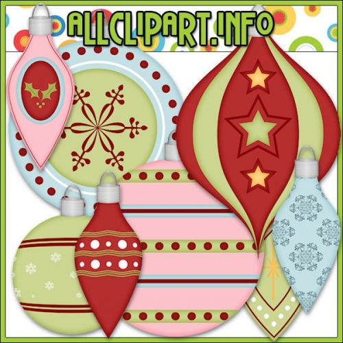 "Christmas Baubles 2 Clip Art by AllClipART.info - "".00"