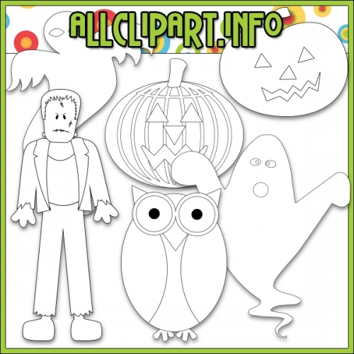 """Halloween Characters by AllClipART.info - Digi Stamps - """".00"""