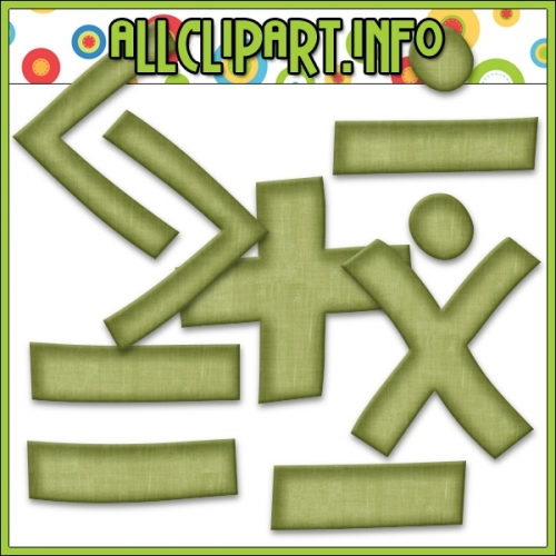 "Love To Learn Math Symbols - Scrapbooking & Card Making > Alphas - "".00"