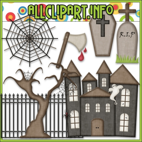 "Halloween Things Clip Art by AllClipART.info - "".00"