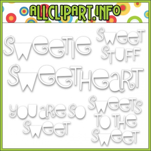"Sweet Stuff Word Art Digital Stamps - alt=""Sweet Stuff Word Art Digital Stamps - $1.00"" .00"