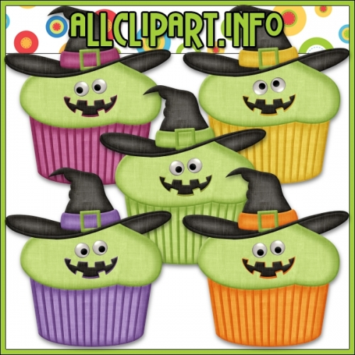 "Googly Eyes Halloween Cupcakes (Green) by AllClipART.info - "".00"