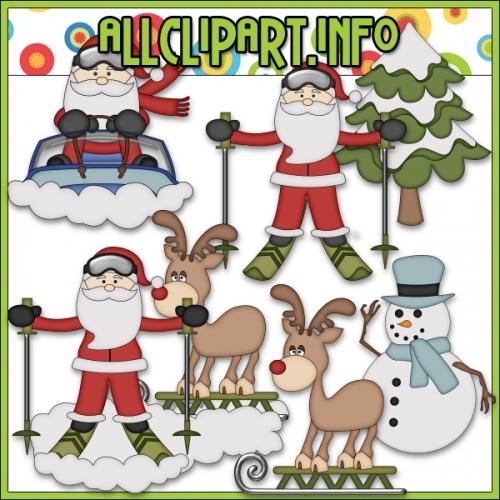 """Snow Fun Santa Clip Art by AllClipART.info - """".00"""