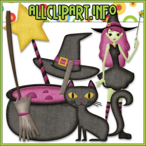 "Halloween Witch Clip Art by AllClipART.info - "".00"
