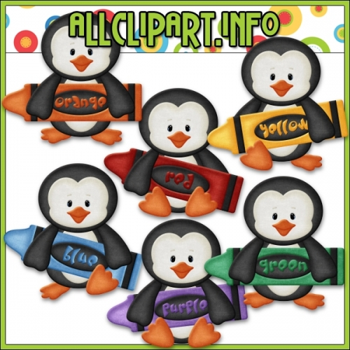 "Love To Learn Colors Penguins (Boys) Clip Art by AllClipART.info - "".00"