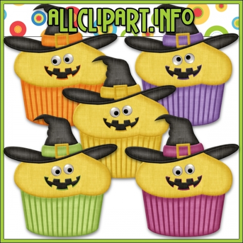 "Googly Eyes Halloween Cupcakes (Yellow) by AllClipART.info - "".00"