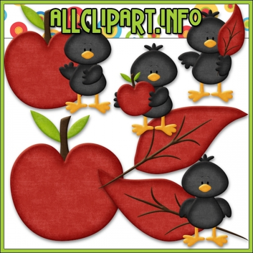 "Fall Colors Crows (Red) Clip Art by AllClipART.info - "".00"