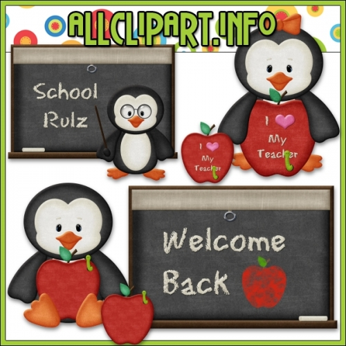 "I ♥ My Teacher Penguins Clip Art by AllClipART.info - "".00"