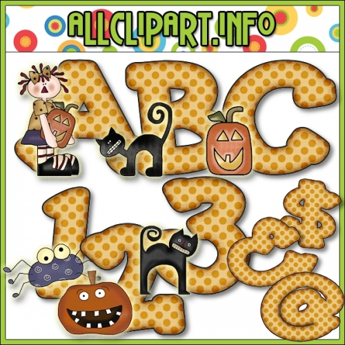 """Halloween Annie Lettering Delights Clip Art by Cheryl Seslar - alt=""""Halloween Annie Lettering Delights Clip Art by Cheryl Seslar - $1.00"""" .00"""