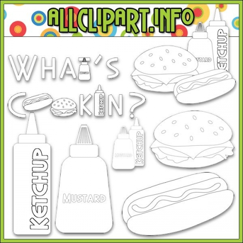 "What's Cookin? Digital Stamps - "".00"