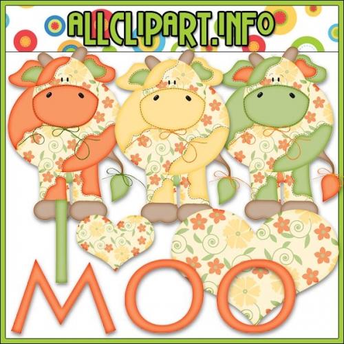 """Citrus Cows Clip Art by AllClipART.info - No Outlines - """".00"""