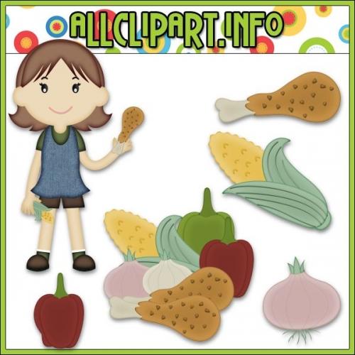 """Dinner Time Girl Clip Art by AllClipART.info - """".00"""