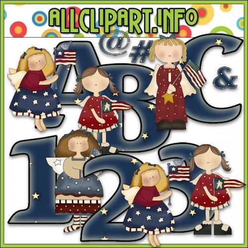 "American Angel Lettering Delights Alphas - alt=""American Angel Lettering Delights Alphas - $1.00"" .00"