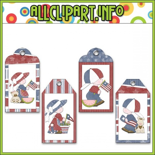 "Liberty Kids (Clip Art) Hang Tags - "".00"
