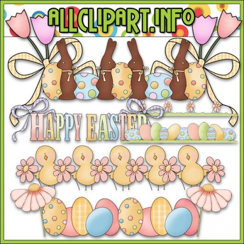 "Easter Borders Clip Art by Primsy Doodle Designs - alt=""Easter Borders Clip Art by Primsy Doodle Designs - $1.00"" .00"