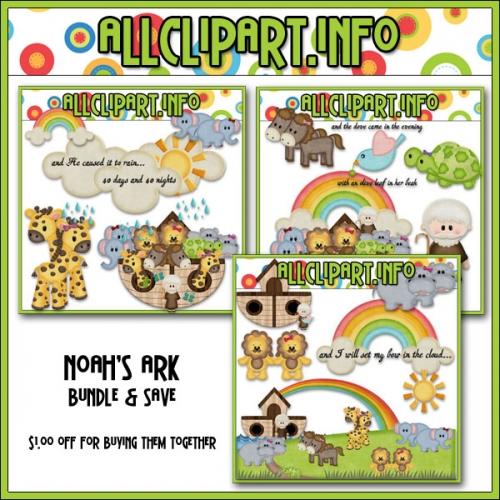 Noah's Ark Clip Art Bundle - .00
