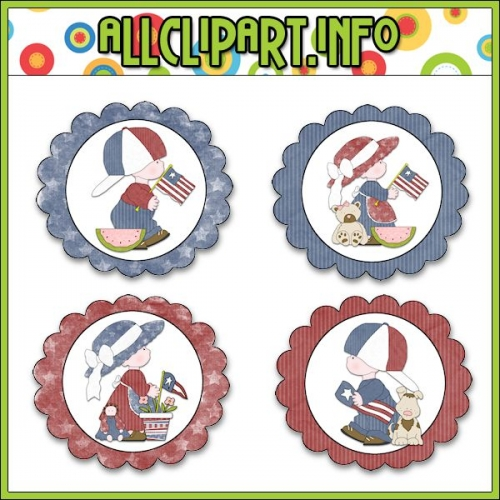 "Liberty Kids (Clip Art) Cupcake Picks - "".00"