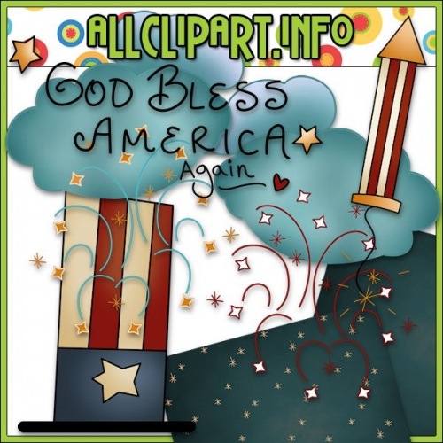 "God Bless America Again Clip Art by Country Life Graphics - alt=""God Bless America Again Clip Art by Country Life Graphics - $1.00"" .00"