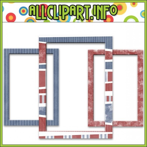"Liberty Kids Frames Embellishments 2 (5x7) - "".00"