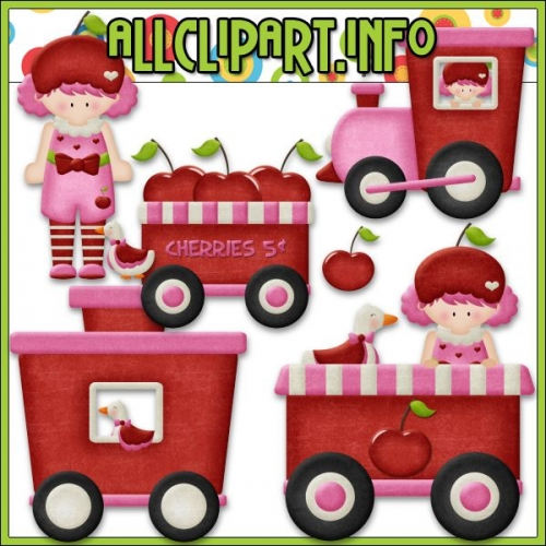 "Berry Sweet Choo Choo (Cherry) Clip Art - "".00"