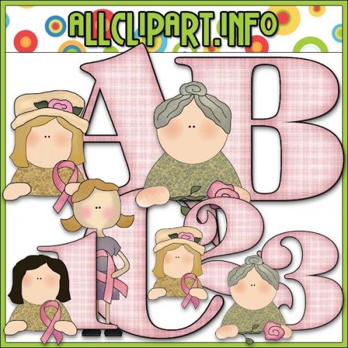 """Pink Ribbon Lettering Delights Alphas - alt=""""Pink Ribbon Lettering Delights Alphas - $1.00"""" .00"""