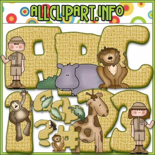 "On Safari Lettering Delights Alphas - alt=""On Safari Lettering Delights Alphas - $1.00"" .00"