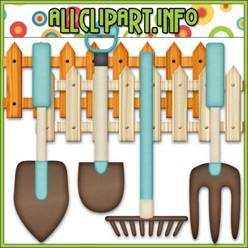 """Fall Gardening Tools Clip Art - """".00"""
