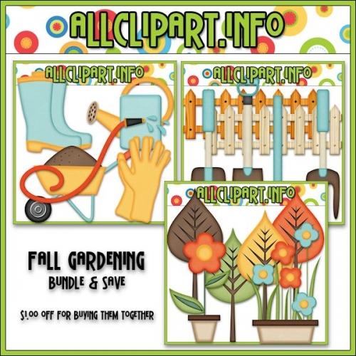Fall Gardening Clip Art Bundle - .00