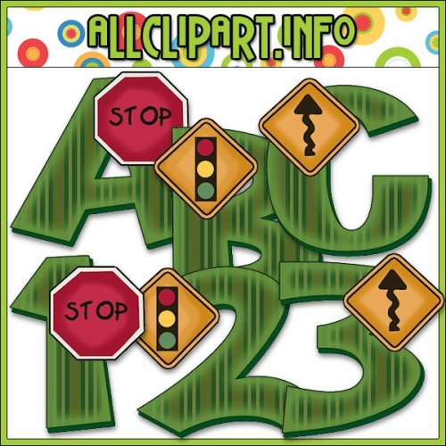 "Road Signs Lettering Delights Alphas - alt=""Road Signs Lettering Delights Alphas - $1.00"" .00"