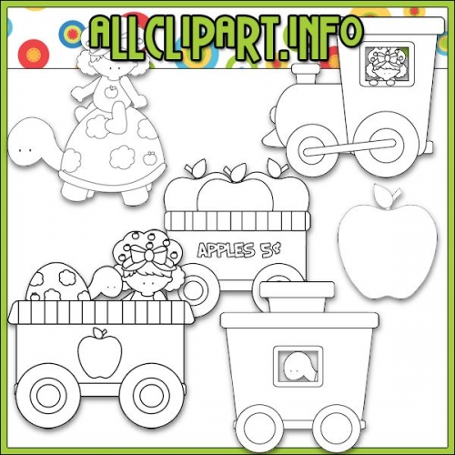 "Berry Sweet Choo Choo (Apple) Digital Stamps - "".00"