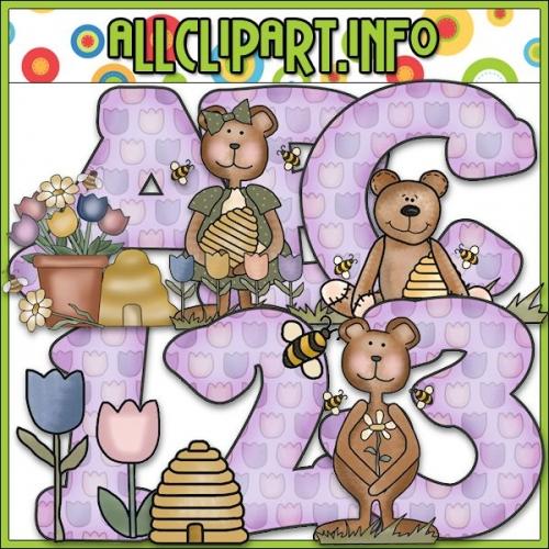 "Spring Bears Lettering Delights Alphas - alt=""Spring Bears Lettering Delights Alphas - $1.00"" .00"