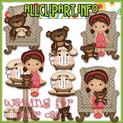 """Waiting For Your Call Scenes Clip Art - """".00"""