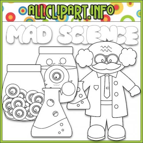"Mad Scientist Digital Stamps - "".00"